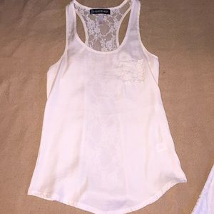 Weaver Tank Top cream beige color